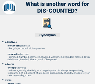 dis counted, synonym dis counted, another word for dis counted, words like dis counted, thesaurus dis counted