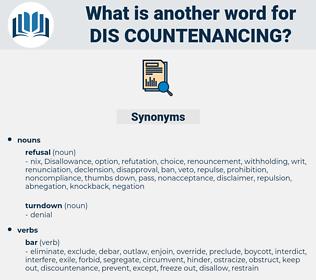 dis countenancing, synonym dis countenancing, another word for dis countenancing, words like dis countenancing, thesaurus dis countenancing