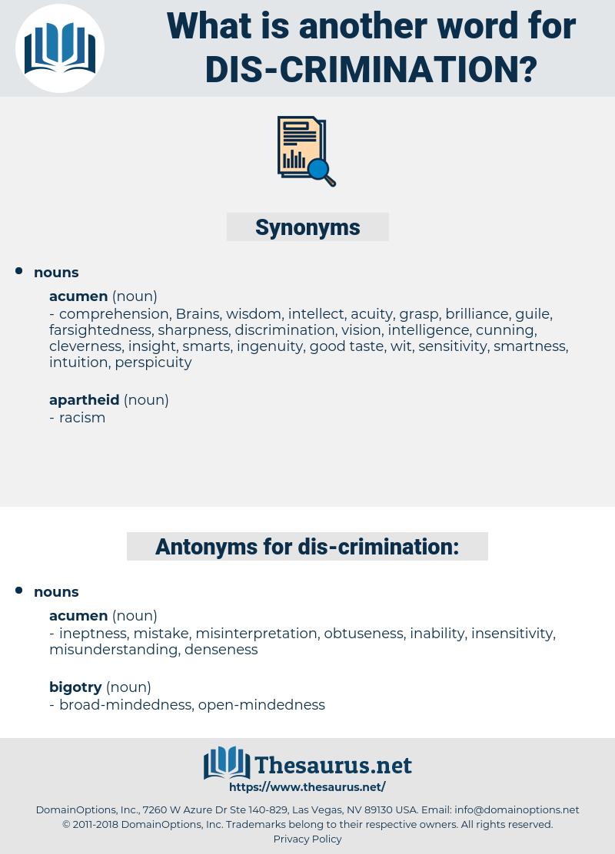 dis-crimination, synonym dis-crimination, another word for dis-crimination, words like dis-crimination, thesaurus dis-crimination