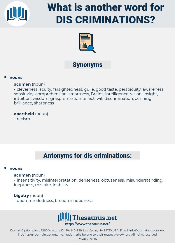 dis-criminations, synonym dis-criminations, another word for dis-criminations, words like dis-criminations, thesaurus dis-criminations