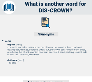 dis crown, synonym dis crown, another word for dis crown, words like dis crown, thesaurus dis crown