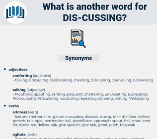 dis-cussing, synonym dis-cussing, another word for dis-cussing, words like dis-cussing, thesaurus dis-cussing