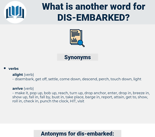 dis embarked, synonym dis embarked, another word for dis embarked, words like dis embarked, thesaurus dis embarked