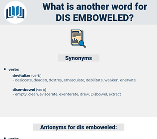 dis-emboweled, synonym dis-emboweled, another word for dis-emboweled, words like dis-emboweled, thesaurus dis-emboweled