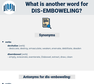 dis-emboweling, synonym dis-emboweling, another word for dis-emboweling, words like dis-emboweling, thesaurus dis-emboweling