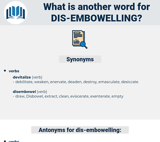 dis-embowelling, synonym dis-embowelling, another word for dis-embowelling, words like dis-embowelling, thesaurus dis-embowelling