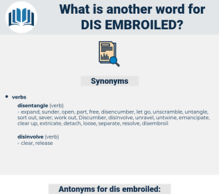 dis-embroiled, synonym dis-embroiled, another word for dis-embroiled, words like dis-embroiled, thesaurus dis-embroiled