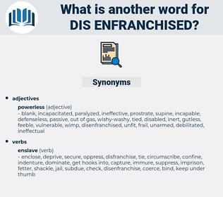 dis enfranchised, synonym dis enfranchised, another word for dis enfranchised, words like dis enfranchised, thesaurus dis enfranchised