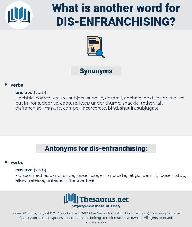 dis-enfranchising, synonym dis-enfranchising, another word for dis-enfranchising, words like dis-enfranchising, thesaurus dis-enfranchising