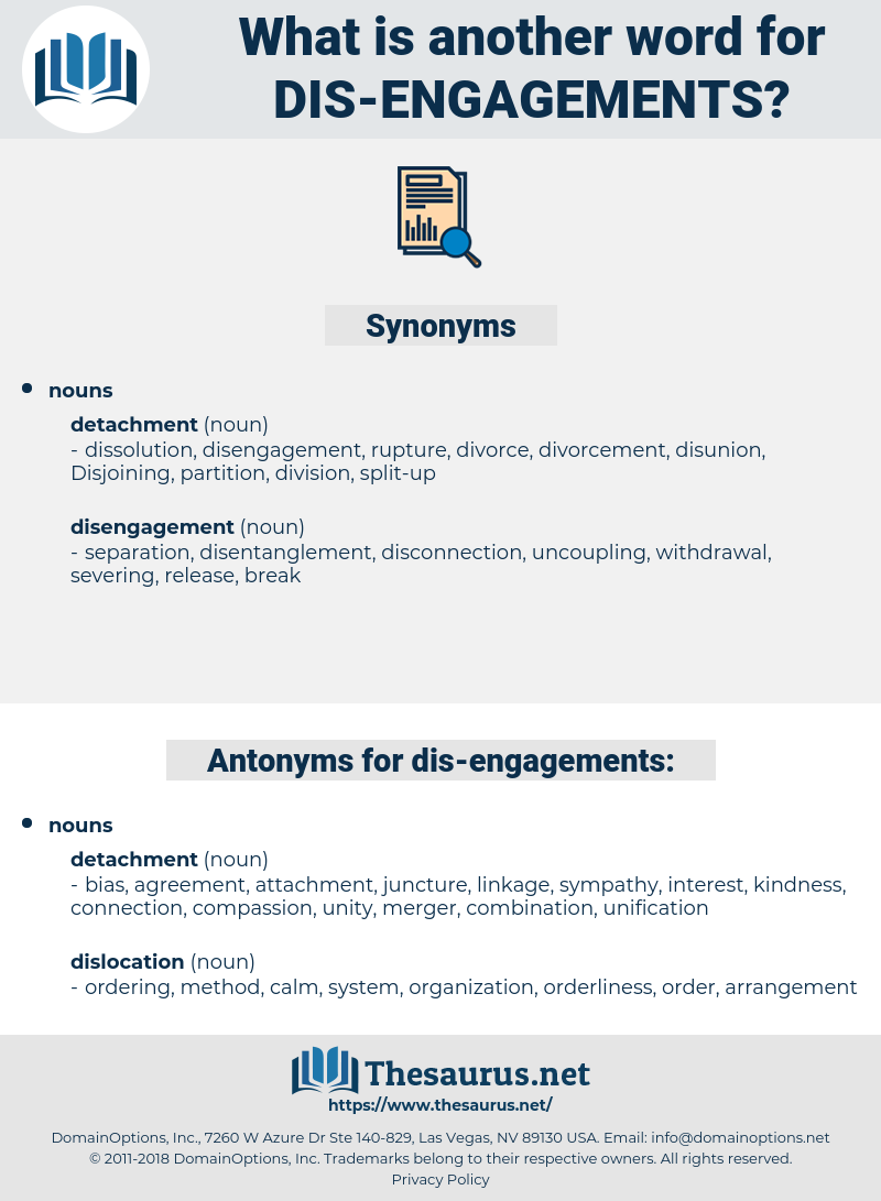 dis-engagements, synonym dis-engagements, another word for dis-engagements, words like dis-engagements, thesaurus dis-engagements