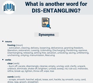 dis-entangling, synonym dis-entangling, another word for dis-entangling, words like dis-entangling, thesaurus dis-entangling