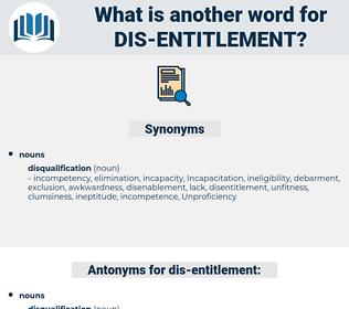 dis entitlement, synonym dis entitlement, another word for dis entitlement, words like dis entitlement, thesaurus dis entitlement