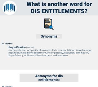 dis entitlements, synonym dis entitlements, another word for dis entitlements, words like dis entitlements, thesaurus dis entitlements