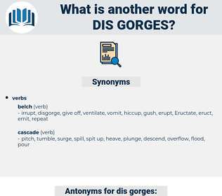 dis gorges, synonym dis gorges, another word for dis gorges, words like dis gorges, thesaurus dis gorges
