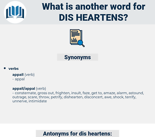 dis heartens, synonym dis heartens, another word for dis heartens, words like dis heartens, thesaurus dis heartens