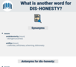 dis-honesty, synonym dis-honesty, another word for dis-honesty, words like dis-honesty, thesaurus dis-honesty