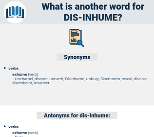 dis inhume, synonym dis inhume, another word for dis inhume, words like dis inhume, thesaurus dis inhume