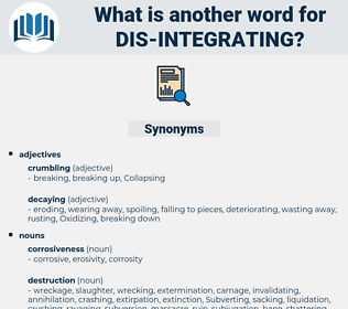 dis-integrating, synonym dis-integrating, another word for dis-integrating, words like dis-integrating, thesaurus dis-integrating