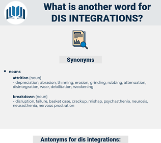 dis integrations, synonym dis integrations, another word for dis integrations, words like dis integrations, thesaurus dis integrations