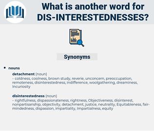 dis-interestednesses, synonym dis-interestednesses, another word for dis-interestednesses, words like dis-interestednesses, thesaurus dis-interestednesses