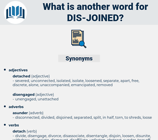 dis joined, synonym dis joined, another word for dis joined, words like dis joined, thesaurus dis joined