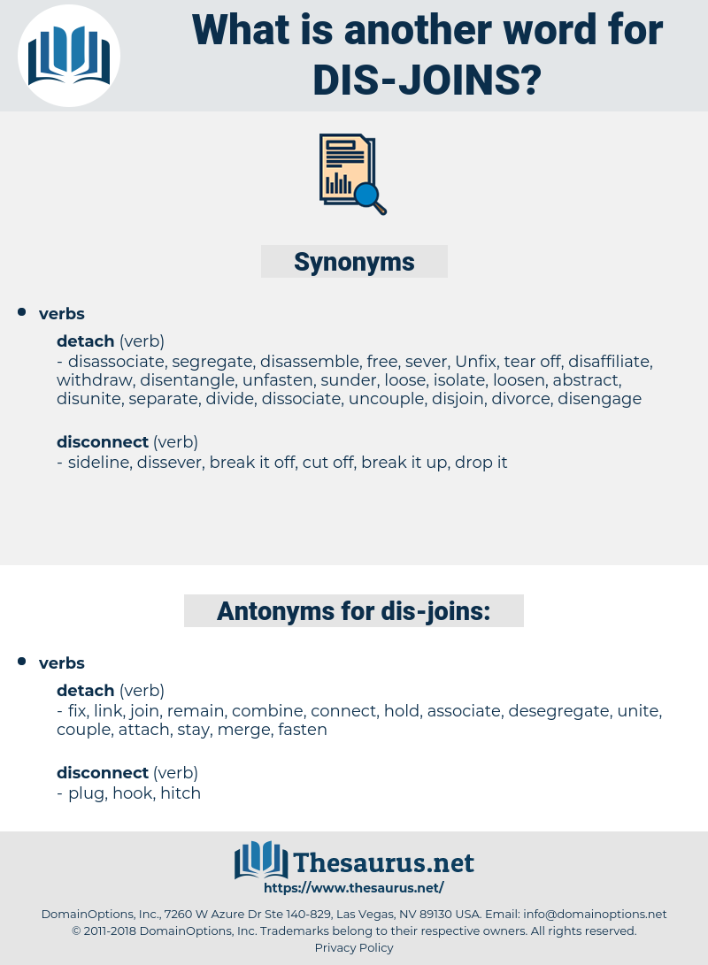 dis-joins, synonym dis-joins, another word for dis-joins, words like dis-joins, thesaurus dis-joins