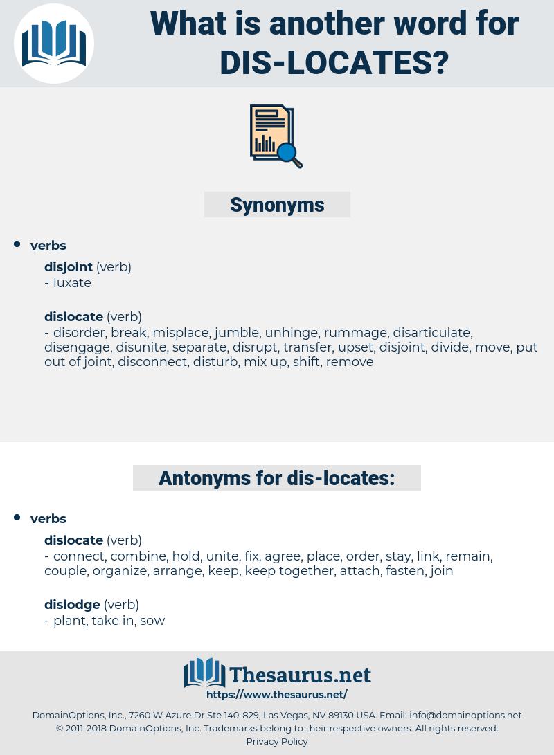 dis locates, synonym dis locates, another word for dis locates, words like dis locates, thesaurus dis locates