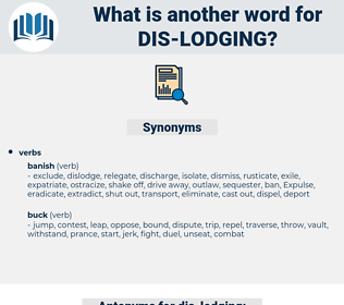 dis lodging, synonym dis lodging, another word for dis lodging, words like dis lodging, thesaurus dis lodging