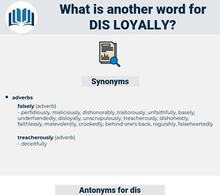 dis-loyally, synonym dis-loyally, another word for dis-loyally, words like dis-loyally, thesaurus dis-loyally