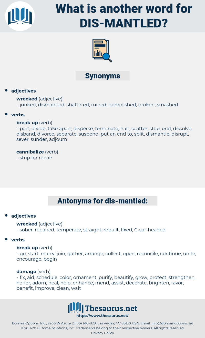 dis mantled, synonym dis mantled, another word for dis mantled, words like dis mantled, thesaurus dis mantled