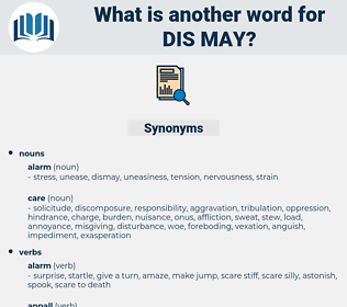 dis may, synonym dis may, another word for dis may, words like dis may, thesaurus dis may