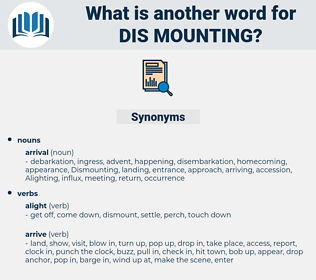 dis-mounting, synonym dis-mounting, another word for dis-mounting, words like dis-mounting, thesaurus dis-mounting