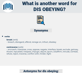 dis-obeying, synonym dis-obeying, another word for dis-obeying, words like dis-obeying, thesaurus dis-obeying