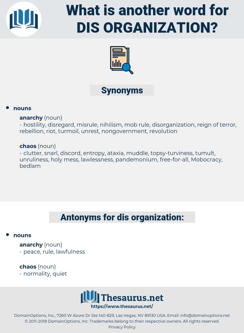 dis-organization, synonym dis-organization, another word for dis-organization, words like dis-organization, thesaurus dis-organization