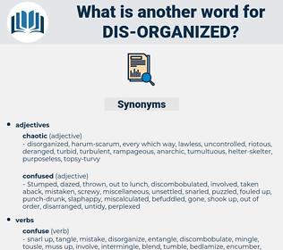 dis organized, synonym dis organized, another word for dis organized, words like dis organized, thesaurus dis organized