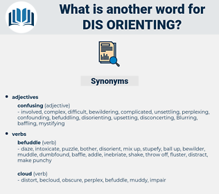 dis orienting, synonym dis orienting, another word for dis orienting, words like dis orienting, thesaurus dis orienting