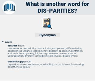 dis parities, synonym dis parities, another word for dis parities, words like dis parities, thesaurus dis parities