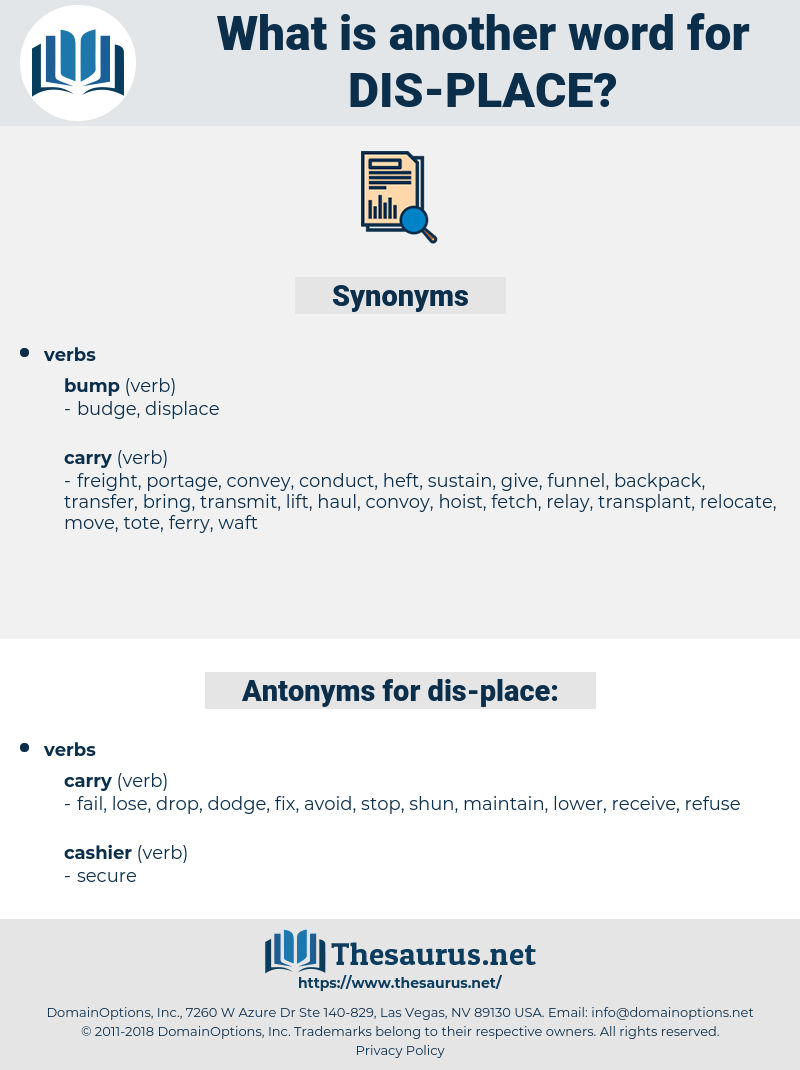 dis-place, synonym dis-place, another word for dis-place, words like dis-place, thesaurus dis-place