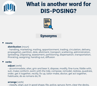 dis-posing, synonym dis-posing, another word for dis-posing, words like dis-posing, thesaurus dis-posing