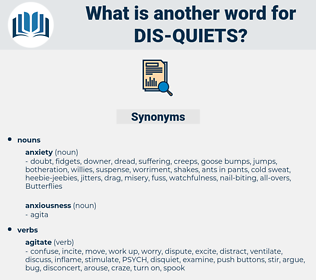 dis quiets, synonym dis quiets, another word for dis quiets, words like dis quiets, thesaurus dis quiets
