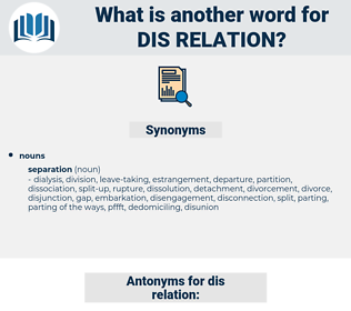 dis relation, synonym dis relation, another word for dis relation, words like dis relation, thesaurus dis relation