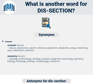 dis section, synonym dis section, another word for dis section, words like dis section, thesaurus dis section