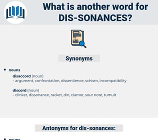 dis sonances, synonym dis sonances, another word for dis sonances, words like dis sonances, thesaurus dis sonances