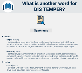 dis-temper, synonym dis-temper, another word for dis-temper, words like dis-temper, thesaurus dis-temper