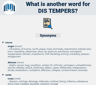 dis-tempers, synonym dis-tempers, another word for dis-tempers, words like dis-tempers, thesaurus dis-tempers