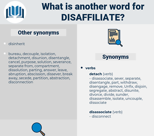 disaffiliate, synonym disaffiliate, another word for disaffiliate, words like disaffiliate, thesaurus disaffiliate