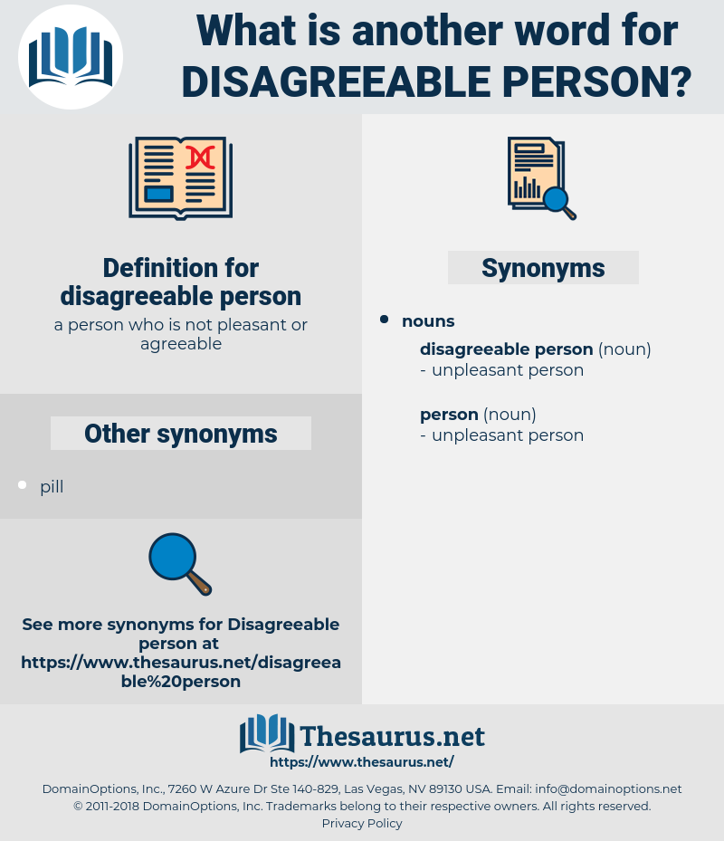 disagreeable person, synonym disagreeable person, another word for disagreeable person, words like disagreeable person, thesaurus disagreeable person