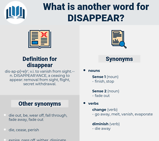 disappear, synonym disappear, another word for disappear, words like disappear, thesaurus disappear
