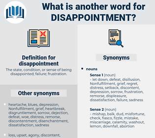 disappointment, synonym disappointment, another word for disappointment, words like disappointment, thesaurus disappointment