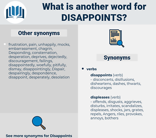 disappoints, synonym disappoints, another word for disappoints, words like disappoints, thesaurus disappoints